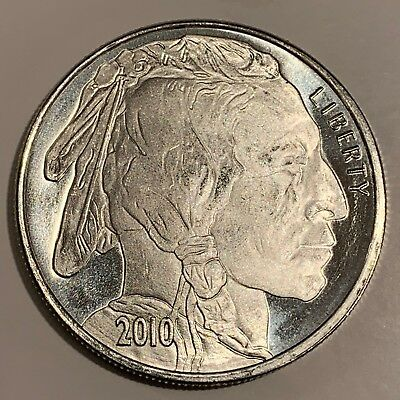 Liberty Indian Head Buffalo 2010 Silver 1 troy oz .999 Fine Silver Round