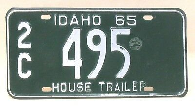 1965 IDAHO HOUSE TRAILER  license plate 0