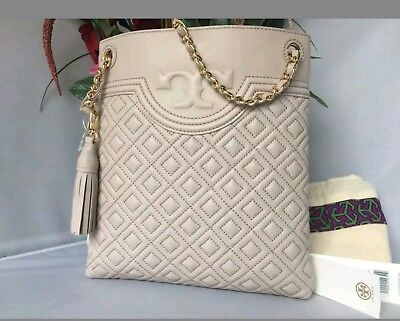 2c2946326004 AUTH  428 NWT Tory Burch Fleming Leather Swingpack CrossBody Bag Bedrock  Purse