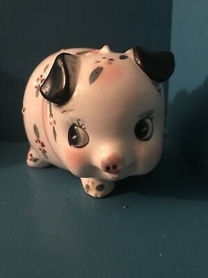 Vintage Japanese Piggy Bank. Hand Painted Adorable