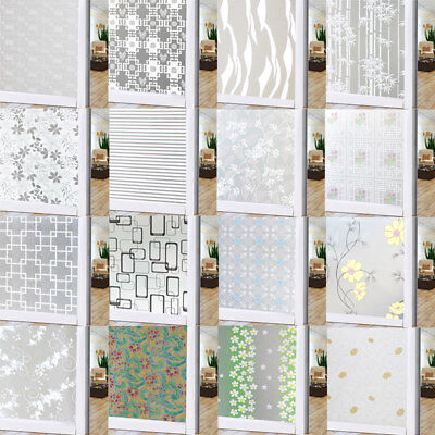 US Removable Self Adhesive Flower Print Window Sticker Wall Decal Home Decor Hot