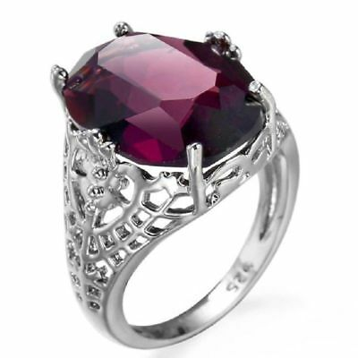 Huge 6Ct Alexandrite Ring 925 Silver Filled Bridal Wedding Engagement Size 6-10