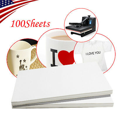 USA 100 Sheet A4 Dye Sublimation Heat Transfer Paper F/Polyester Cotton T- Shirt