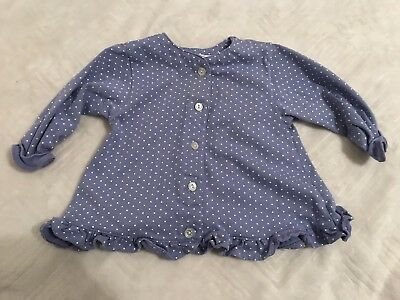 83957f2aa938 Lord   Taylor Small Creations Purple White Polka Dot Long sleeve Shirt 18  Months