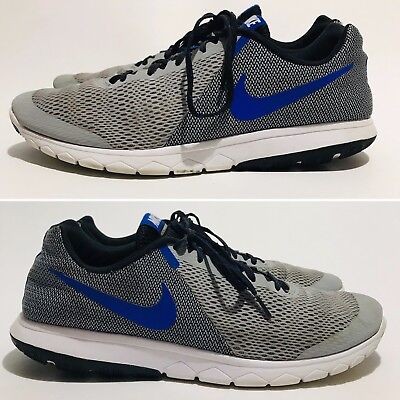 2c669fbc26c NIKE MENS FLEX Experience RN 5 Size 13 Wolf Grey Racer Blue Shoes  844514-004 -  26.95