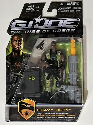 HEAVY DUTY Weapons Specialist G.I.JOE Action Figure THE RISE OF COBRA HASBRO {D2