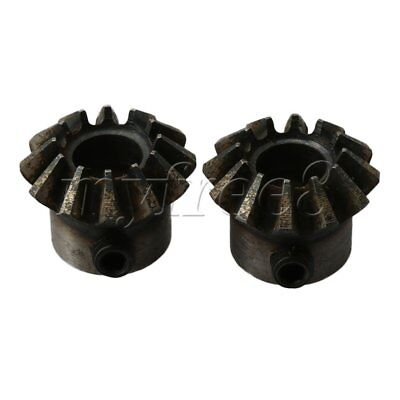 2 Pieces 45# 1.5 Module 12T 8mm Hole Dia Bevel Gear for Mechanical Accessory