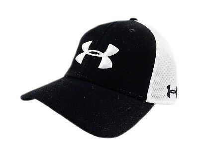 cc877568fac NEW Under Armour Golf Spacer Mesh Black White Mens Fitted L XL Hat
