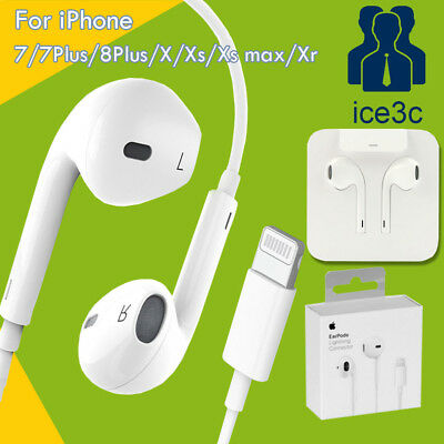 Genuine Apple EarPods Headphones Earphones Headset For iPhone X XS Max 7 8 Plus