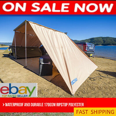 Camping Awning 4WD Side Wall Shade 2.5m Roof Top Tent Camper Trailer Car Canopy