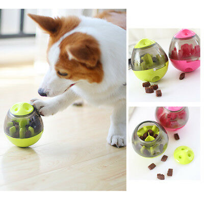 Pet Dog Dispensing Ball Toy IQ Test Interactive Treat Food Feed Toys US Stock