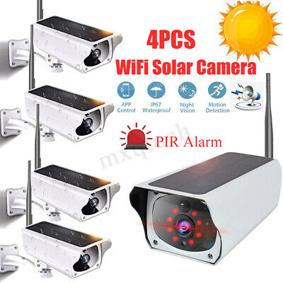 1080P 2MP WIFI Waterproof Solar Battery Security Camera IP Night Vision Lot