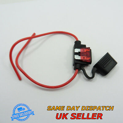 Waterproof Inline Fuse Holder and 12V Standard Blade Fuse Car Boat Bike
