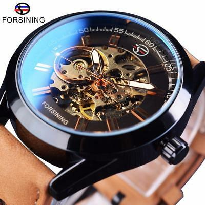 Watch Automatic Steampunk Water Resistant 3Bar Strap Leather