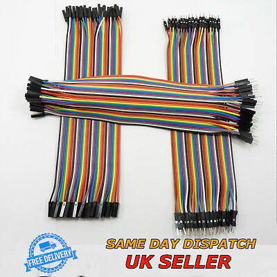 40pcs 20cm Dupont Line Jumper Wire Ribbon 1P-1P M-F M-M F-F Lead Pin Connector