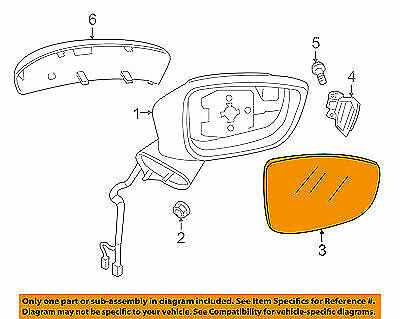 MAZDA OEM 15-16 CX-5 Outside Mirrors-Front Door-Mirror Glass Right KA0H691G1