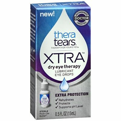 TheraTears Extra Dry Eye Therapy Lubricant Eye Drops - 0.5 OZ (3 Packs)
