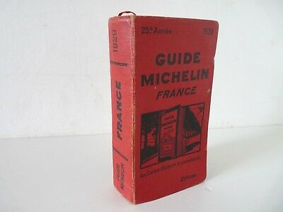 Rare Guide Rouge Michelin France 1929