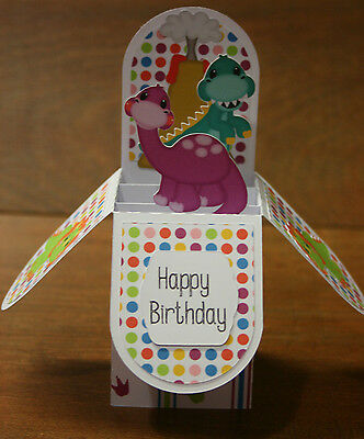Handmade Card Dinosaur birthday card in a box *free post* personalised