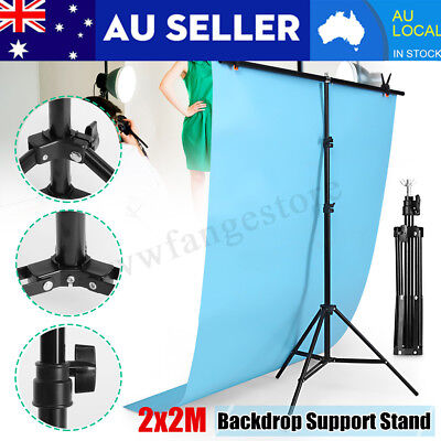 Photography Studio Screen Background Support Stand Holder Backdrop + 3