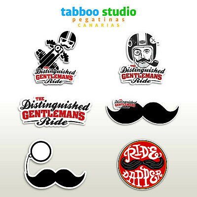 The distinguished gentlemans ride stickers Cafe Racer Style bigote adesivi moto
