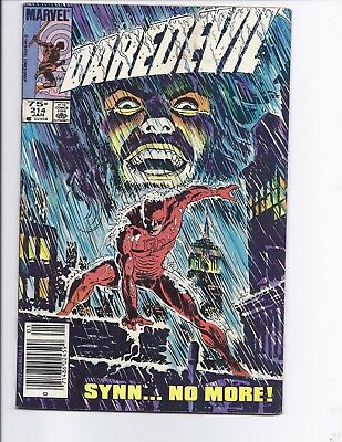 Canadian Newsstand Edition Daredevil #214 $0.75 Price Variant