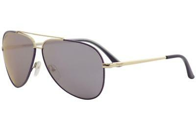 042125022e Salvatore Ferragamo SF131S SF 131 S 736 Shiny Gold Purple Pilot Sunglasses  60mm