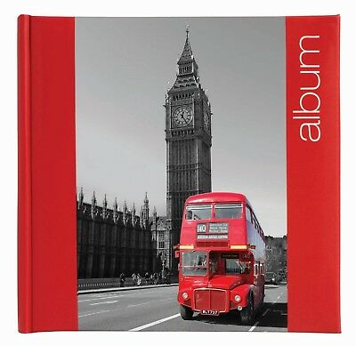 6'' x 4'' Bookbound Slipin Photo Album with Memo Area  - 200 PHOTOS London