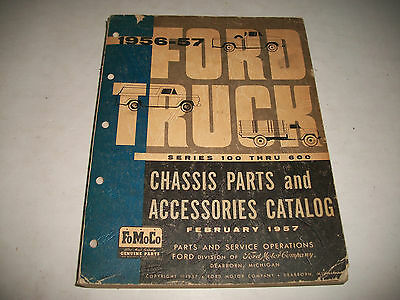1956-1957  Ford Truck Series 100-600 Chassis Parts & Accessories Parts Catalog