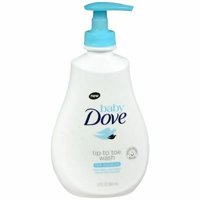 Baby Dove Tip To Toe Wash Rich Moisture - 13 OZ (3 Packs)