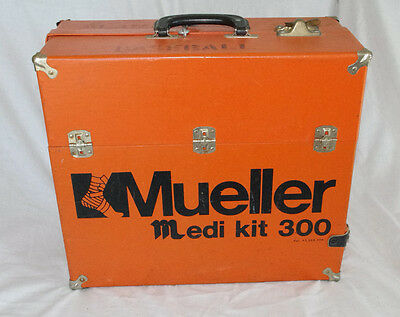 Vintage Medi Kit 300 Empty Mueller Orange Wooden Case Rare