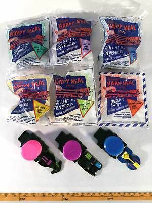 McDonalds 1992 Hot Wheels Mini Streex Complete Set 9 Happy Meal Toys Cars Launch