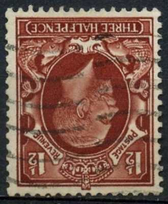 GB KGV 1934-6 SG#441wi 1.5d Red Brown Wmk Inverted Used #D82968
