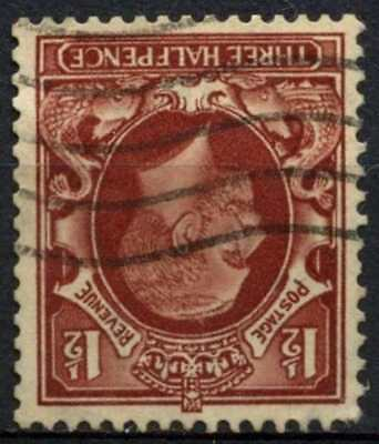 GB KGV 1934-6 SG#441wi 1.5d Red Brown Wmk Inverted Used #D82969