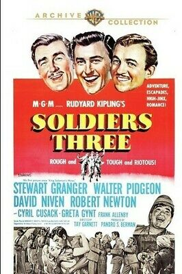 Soldiers Three [New DVD] Manufactured On Demand, Full Frame, Amaray Case