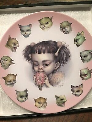 Mab Graves, Mao And The Dinokitties, Edition Limitée, Assiette Collector, Art.