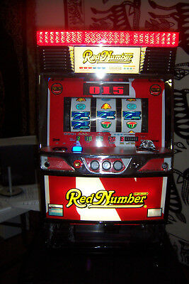 Pachislo SKILL STOP JAPANESE  SLOT MACHINE (RED NUMBER) By NET