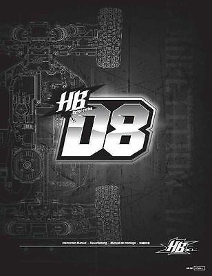 Hpi hot bodies 1/8 hb d8t truggy * instruction/owners manual.