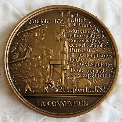 BICENTENNIAL OF THE FRENCH REVOLUTION 76mm BRONZE MEDAL - the convention