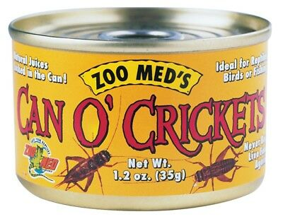 Zoo Med Can O' Crickets Canned Food for Reptiles 1.2 ounces