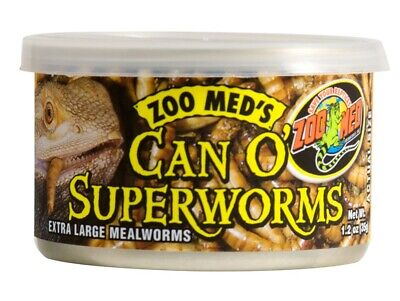 Zoo Med Can O' Superworms Extra Large Mealworms Food for Reptiles 1.75 ounces