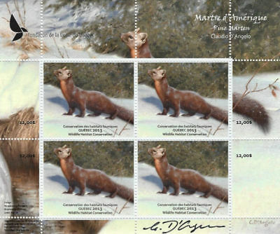 2013 Canada Quebec  Wildlife Habitat Conservation  -DQ73s signed     Mint NH