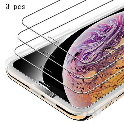 3-Pack Premium Tempered Glass Screen protectors for iPhone X XS XR XS Max