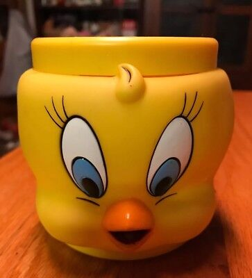 W B Looney Tunes Promotional Plastic Cup Mug 1992 Tweety Bird
