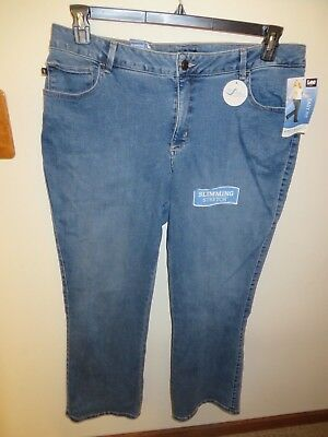 dc3571d8191 LEE Active Motion Easy Fit Barely Bootcut Women s Plus-size jeans-20W-NEW
