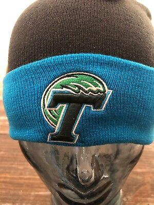 newest 317a1 978b2 ... new zealand tulane green wave ncaa college 2 sided knit pompom beanie  brand new unworn 8d8cc