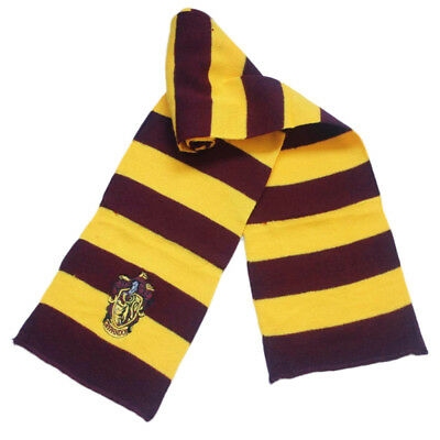 Harry Potter Vouge Hufflepuff House Cosplay Knit Wool Costume Scarf Wrap Kids US