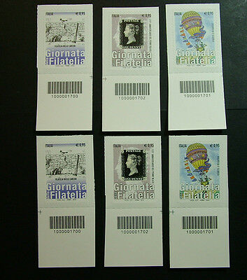 2015 Italy Giornata of Philately complete series Barcode 1700-1702
