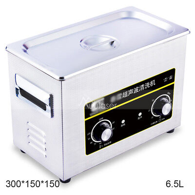 Electric Ultrasonic Sparkle Cleaner Jewelry Cleaning Machine Mini Tank 6.5L