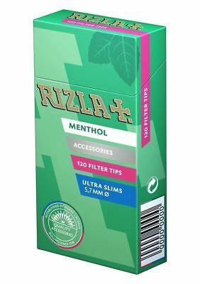 1,2,3,5,10 RIZLA MENTHOL ULTRA SLIM PRE CUT CIGARETTE FILTER TIPS  Free Delivery